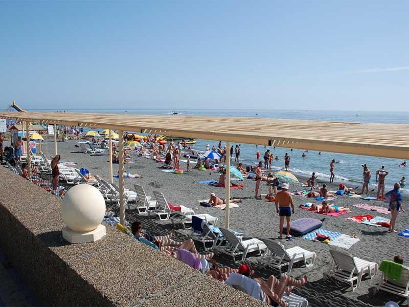 Адлер пляжа и города летом 74